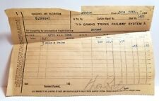 1900 Grand Trunk Railway train receipt, Fenton, Michigan, history, Livingston