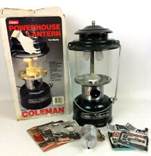Coleman 290A700 Powerhouse Adjustable White Gas 2 Mantle Green Lantern with Box