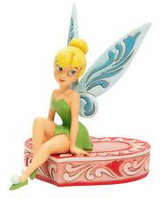 Jim Shore Disney Tink Sitting on Heart Box of Chocolates Tinkerbell Love Seat