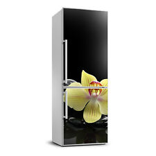 3D Art Refrigerator Kitchen Removable Sticker Magnet Flowers Orchid and stones