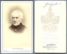 François Guizot Vintage carte de visite, CDV.François Guizot, pour l'état
