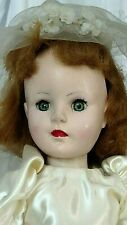 Vintage 1950's Sweet Sue American Character Doll redressed Satin Wedding Dress