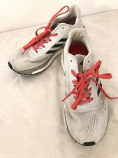 Women's ADIDAS RESPONSE LT BOOST Running Shoes White Gray Red Size 6.5