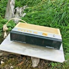 Ancien radio réveil Radialva, vintage art déco (Fonctionne)