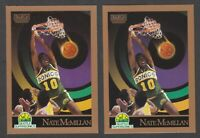 1990 Skybox NATE MCMILLAN Basketball Rare Error & Corrected Version Cards #271