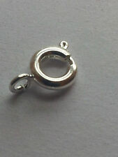 10 x STERLING SILVER  925 BOLT RING OPEN JUMP NECKLACE END CLASPS 10 X 6MM