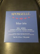 Spongelle Blue Iris Duo- 5.5oz New Free Shipping 30+ Uses
