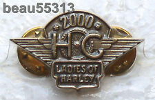 LADIES OF HARLEY DAVIDSON OWNERS GROUP HOG LOH 2000 VEST PIN 00