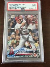 2018 Topps Holiday MIKE TROUT Metallic Snowflake PSA 9 Mint Angels SP #100