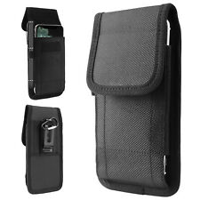 Vertical Oxford Universal Cell Phone Holder Belt Clip Loop Pouch Bag Case Cover