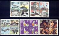 Barbuda Set of 5 Mint NH Se-tenant Blocks Complete Scott #318-322 $12.25 Cat Val