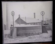 1898 - SOHO FOUNDRY LONDON Gas Holders - Original Lantern Glass Photo Slide