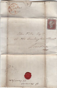 1842 QV MX + WEOBLEY PENNY POST ON LETTER WITH A 1d PENNY RED STAMP 99p START!