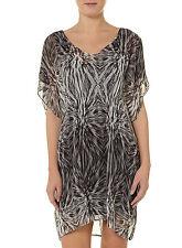 KARDASHIAN KOLLECTION Black & White Ruched Dress~ 10 UK/6 US ~ Celebrity Style