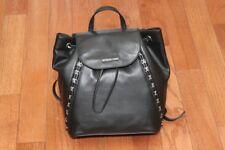 NWT $328 Michael Kors Sadie Medium Stud Backpack Handbag Black
