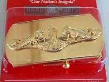 USN US NAVY OFFICER SUBMARINE SUB CREWS WARFARE WARRIOR GOLD DOLPHIN BELT BUCKLE
