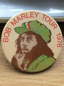 Bob Marley Official Vintage 1976 UK Tour Badge Original Very Rare Very Special