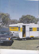 1980 HOLDEN VB COMMODORE & VISCOUNT CARAVAN Reprint Motor Road Test 4p Brochure