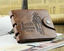 New Vintage Style Bailini Hunter Men Leather Bifold Wallet.
