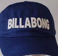 Billabong baseball cap curved bill logo blue cotton twill royal blue brsnd new