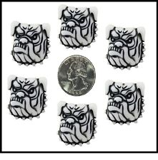 6 PC SCHOOL SPIRIT BULLDOG BULL DOG RESIN FLATBACK FLAT BACK RESINS