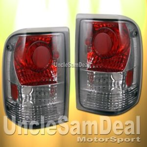 FORD RANGER ALTEZZA SMOKE LENS CHROME TAIL LIGHTS PAIR DIRECT FIT
