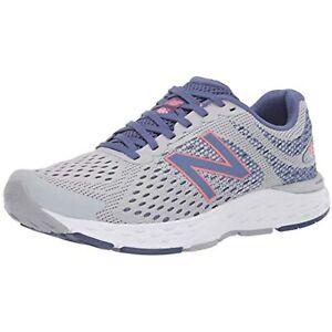 New Balance Womens 680V6 Light Aluminum/Magnetic Blue Running Shoes SIZE 9.5