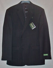 RALPH LAUREN MENS BLACK WOOL 2 PIECE SUIT SIZE 42 REGULAR 36 WAIST NEW WITH TAGS