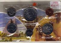 1986 Canada PL Set (6 Coins Cent to $1). MINT UNC.