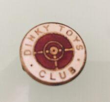 Vintage DINKY TOYS CLUB - Metal Enamel Button Hole Badge