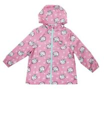 Hello Kitty Girls Long Sleeve Heart Coat / Jacket. 6-7 yrs. Windproof.