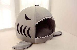 Unbranded Shark Shape Cartoon Little Pet House for Dogs Cats Beds