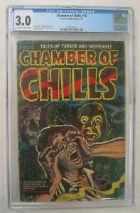 CHAMBER OF CHILLS - #15, 1/53; CGC 3.5; pre-code horror - Lee Elias cover