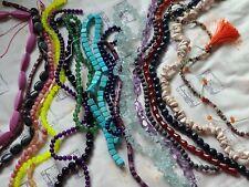 20 Strand Semi Precious Gemstone Bead Lot Amethyst Lapis Agate Jade Quartz More!