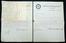Central Stamping Co 1908 Signed Letters USA Briefe aus Amerika (Lot I-189