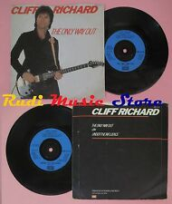LP 45 7'' CLIFF RICHARD The only way out Under the influence 1982  no cd mc dvd