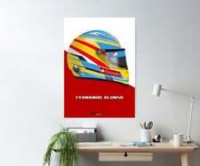 New listing Fernando Alonso 2012 Ferrari F1 Helmet Print - Scuderia GP