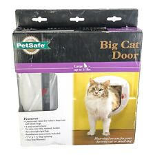 PetSafe Cat Door Large 25 Lbs 4-Way Locking White Interior/Exterior Ppa00-11326