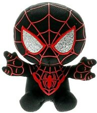 New Ty Spiderman Miles Morales Beanie Baby 6 inches Marvel black silver red