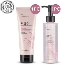 The Face Shop Rice Water Bright Cleansing Foam + Oil Set