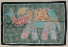 Recycled Fabric Patchwork Elephant Indian Wall Hanging 93 x 64 cm (PW2)