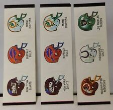 Raiders/Bills/Giants/Dolphins/Colts/Redskins Vintage NFL Football Stickers Rare