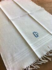 1 serviette visage Coton nid d'abeille Jamais utilisée Linge ancien 1205-94/1E