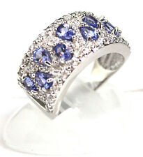 Item #311 Tanzanite  (Pear) 1.35 CTW with Round White Zircon .77 CTW	 Ring  Size