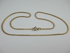 """LOVELY PRE-OWNED 18"""", FULLY HALLMARKED 9ct YELLOW GOLD SNAKE CHAIN  3.2g"""