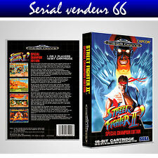 "BOX, CASE ""STREET FIGHTER 2"". MEGADRIVE.BOX + COVER PRINTED.NO GAME.MULTILINGUAL"