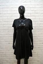ARMANI JEANS Tubino Vestito Nero Donna Taglia M Abito Casacca Women's Dress