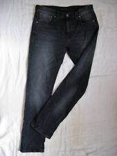 NUDIE Tape Ted Blue Black Jeans Röhre Stretch W32/L32 medium waist slim fit pipe