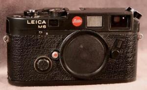 LEICA M6 Black Rangefinder Body Only...Works Well
