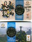 """2 euro Belgio 2016 coincard """"XXXI Giochi Olimpici Rio de Janeiro"""" OLA E FRA"""